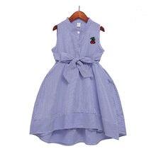 Детское хлопковое платье с вышивкой клубники на Возраст 3 12