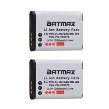 2X 1200mAh D-Li88 DLI88 DB-L80 VW-VBX070 batería Li-Ion para Pentax Optio H90 P70 P80 W90 WS80 cámaras Sanyo Xacti DMX-CG11 VP