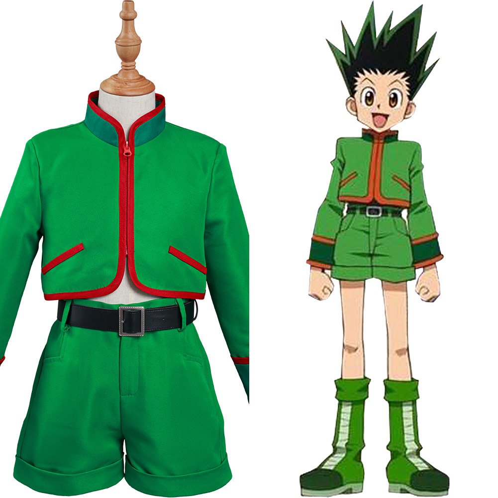 Детский костюм для косплея Hunter x Hunter Gon Freecss, костюм для Хэллоуина, карнавала