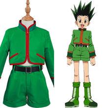Hunter x Gon Freecss – Costume Cosplay pour enfants, haut et pantalon, tenue d'halloween et de carnaval