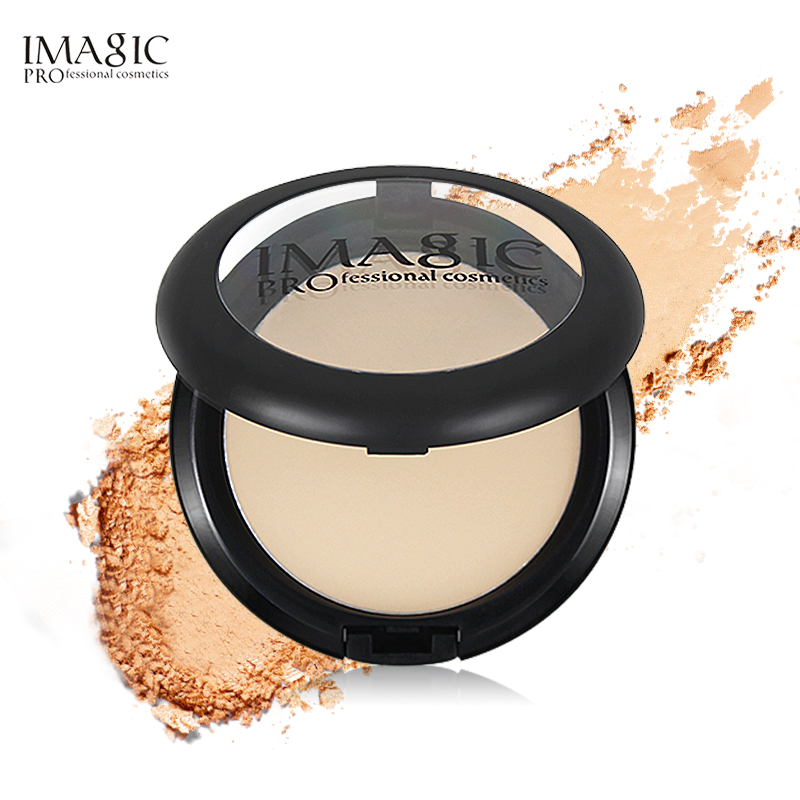 IMAGIC Four-color Loose Powder Makeup Powder Honey Powder Control Oil Lasting Concealing Waterproof Net Red Dry Powder Convenien