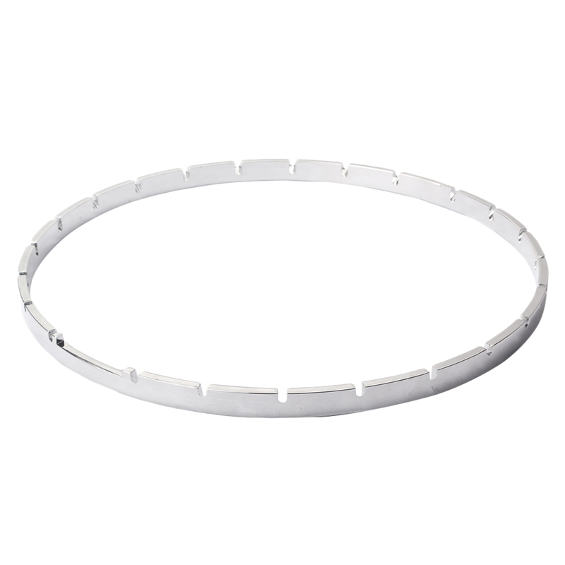 11 Inch 24 Notched Banjo Tension Hoop Nickel-Plated Brass Banjo Repair Part Accessories