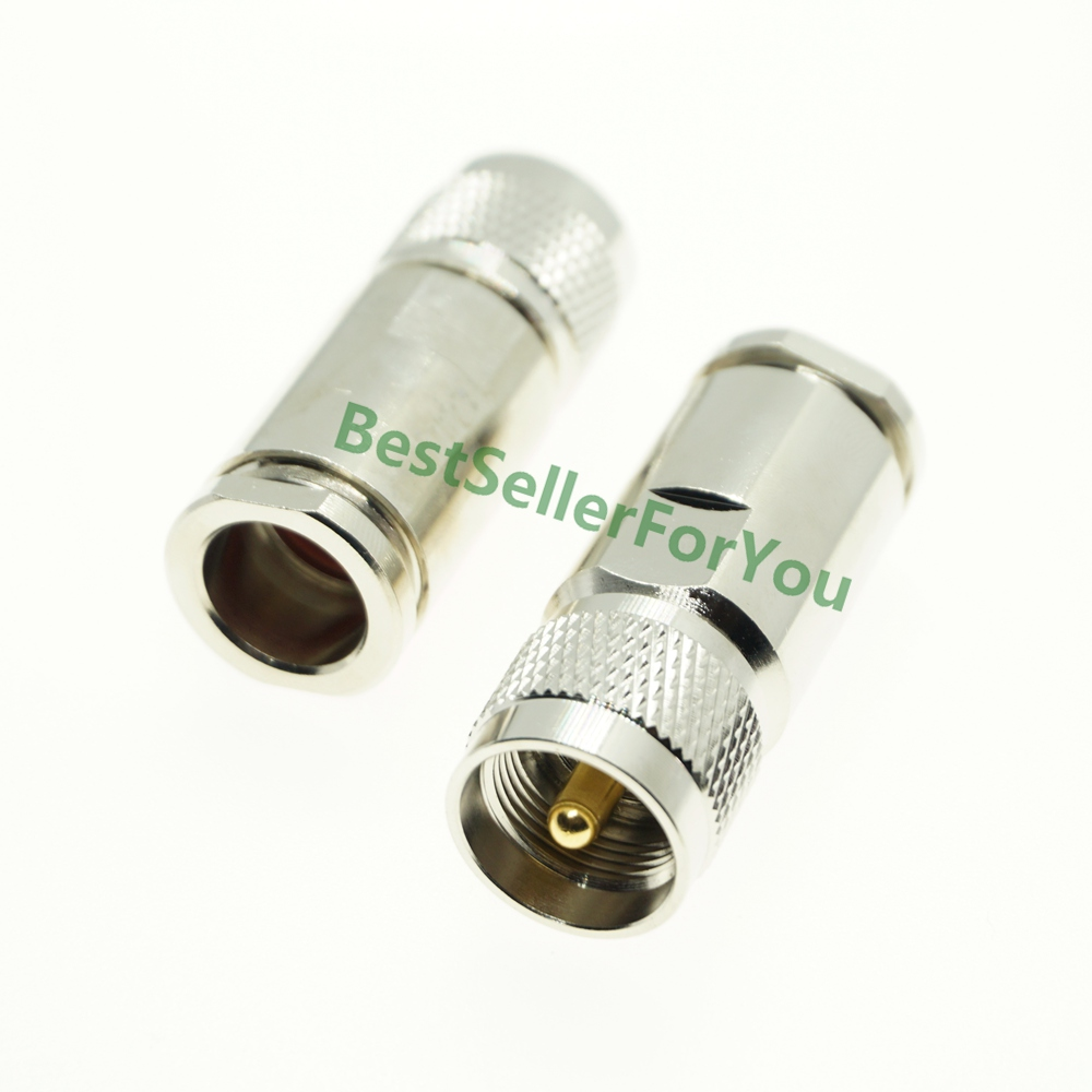 1Pcs UHF PL 259 Male Solder Clamp Plug Connector For 10D-FB LMR500 LMR-500 Coaxial Cable