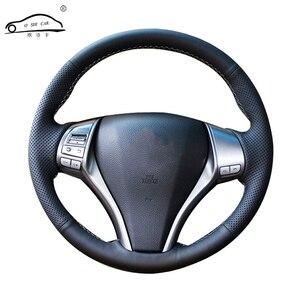 Image 1 - الجلود الاصطناعية عجلة توجيه سيارة جديلة لنيسان Teana Altima 2013 2016 X Trail قاشقاي المارقة/مخصص غطاء عجلة القيادة