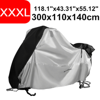 XXXL 300cm 118 inch 210D Dust Snow Rain Coat UV Protective Bike Scooter Covers Protector Waterproof Motorcycle Motor Cover Trunk