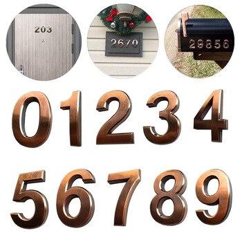 De 0 a 9, placas de dirección autoadhesivas para números de puerta de casa para señales de buzón de correo de residencia L5 #4 10 Uds.