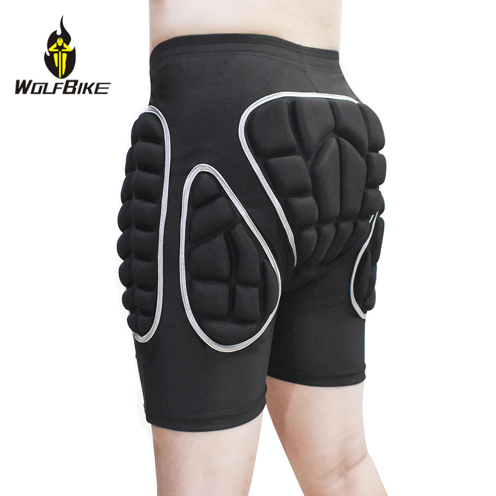 Wolfbike EVA Protection Pad Snowboarding Shorts Roller Hockey Butt Hip Protector Motorcycle MTB Bike Skateboard Ski MTB Shorts in Skateboarding Shorts from Sports Entertainment