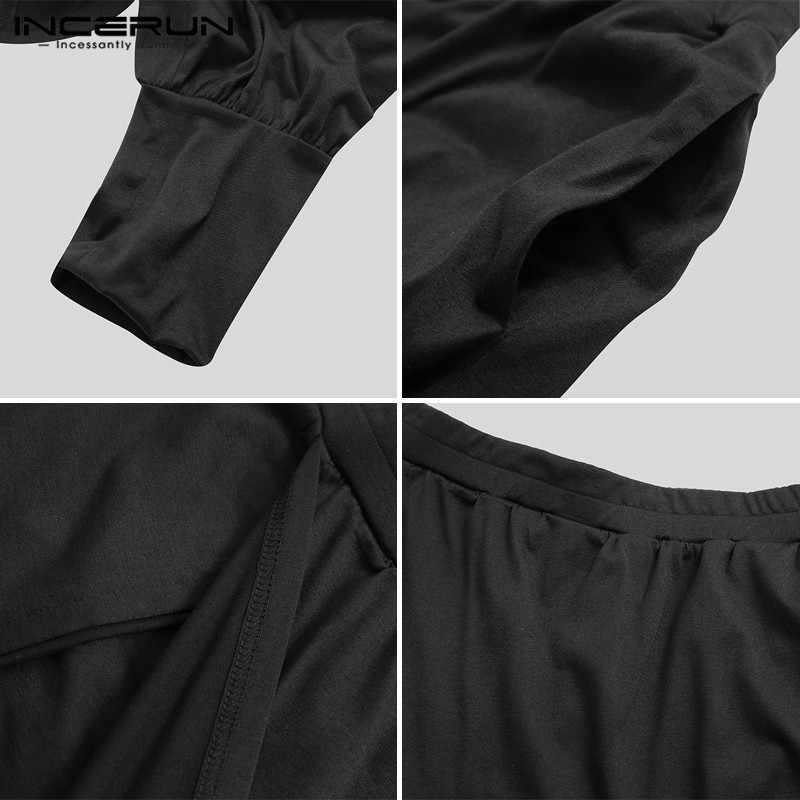 INCERUN, pantalones bombachos para hombre, pantalones con estampado informal holgados Harajuku con cintura elástica Punk, pantalones para hombre, ropa de calle, faldas, pantalones S-5XL 2020