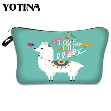 Yotina Makeup Bags Women Cosmetic Bag With Multicolor Pattern 3D Printing neceser Cosmetics Pouchs For Travel make up bag holo donuts 3d printing cosmetic bag 2016 fashion new women pencil case makeup bag neceser para mujer trousse de maquillage bags