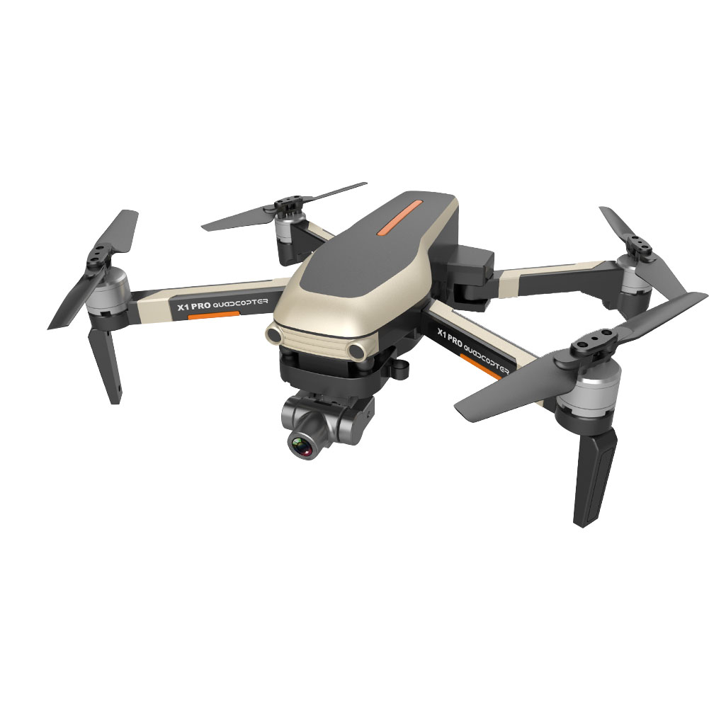 RC Drone 2-axis Gimbal With Camera Wide Angle APP Control Portable 50 Times Zoom Optical Flow Positioning GPS Navigation Gift