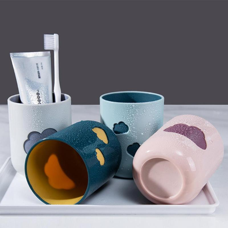 Large-capacity Toothbrush Cup Cloud Tumbler Simple Style Circular Water Drinking Small Potted Plant Cup Bathroom Supply