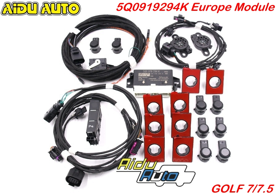 USE FOR VW Golf 7 MK7 VII Front And Rear 8K OPS Parking Pilot 5Q0 919 294 K UPGRADE KIT 5Q0919294K