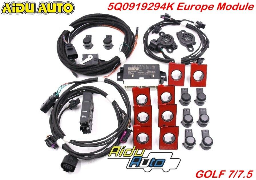 USE FOR VW Golf 7 MK7 VII Front and Rear 8K OPS Parking Pilot 5Q0 919 294 K UPGRADE KIT 5Q0919294K|Parking Sensors| |  - title=