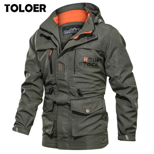 Men's Winter Bomber Jacket Men Autumn Military Jackets Male Brand Tactical Jackets Mens MA1 Army Multi-pocket Waterproof Coats(China)