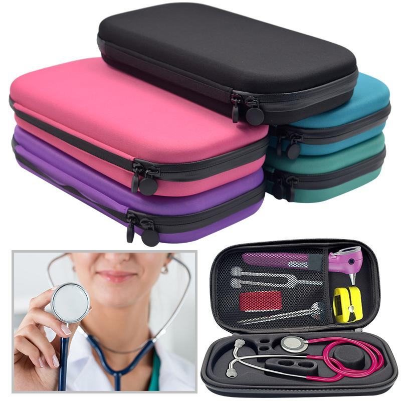 GloryStar Portable Stethoscope Storage Box Carry Travel Case Bag Hard Drive Pen Medical Organizer