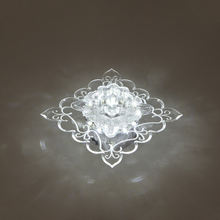 Artpad квадратный кристаллический мини потолочный светильник