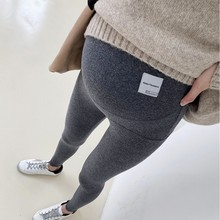 95%Cotton High waist Belly Maternity Elasticity Skinny Legging Adjustable Pants Clothes for Pregnant Women Spring Pregnancy Yoga