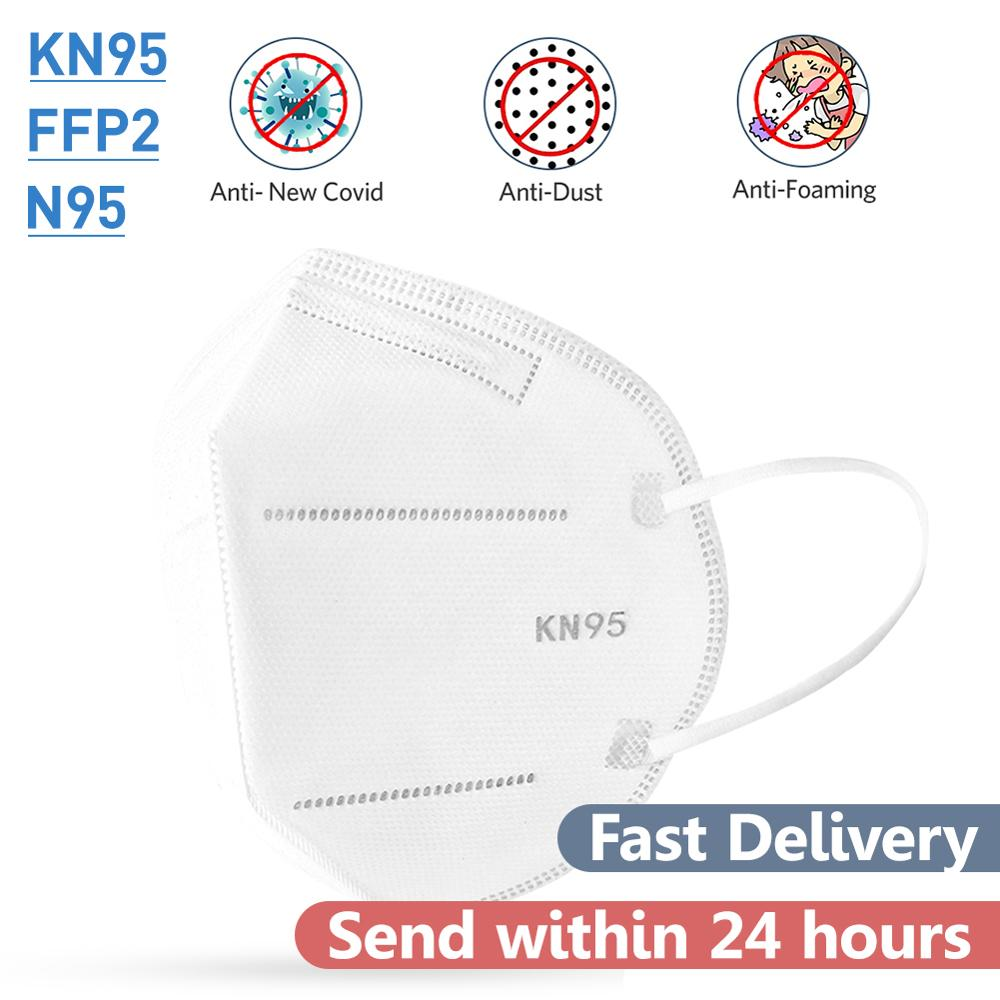 KN95 FFP2 Face Masks Anti-dust Proof Face Mask PM2.5 Prevent Droplet Earloop Face Mouth Mask Feasuer As KF94