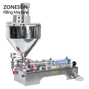 Image 5 - ZONESUN ערבוב מאוד צמיג מזון להדביק קרם אריזה ציוד בקבוק מילוי LiquidsAlcohol ג ל חומר מילוי מכונה