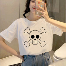 Летняя уличная одежда с черепом футболки мультяшным принтом