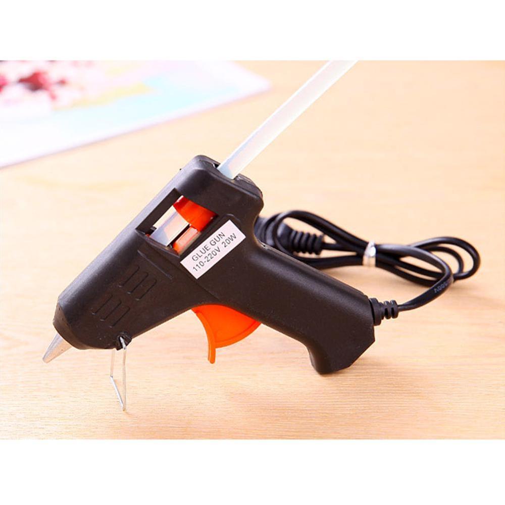20W Mini Electric Heat Hot Melt Glass Glue Caulk Gun Sticks Repair Pneumatic Tool US Plug