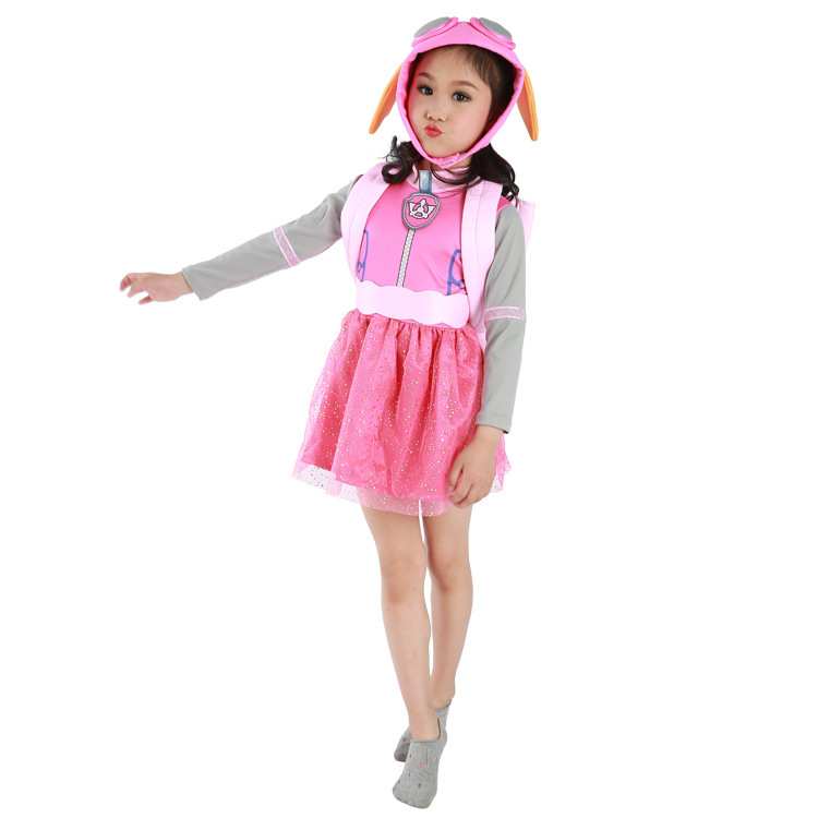 Image 4 - New Kids Carnival Clothing Children Patrol dogs Marshall Chase Skye Cosplay Costume Halloween Party Role Play