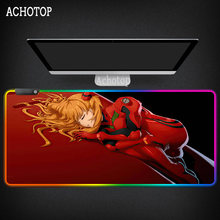 Evangelion Mouse Pad XXL Large Natural Rubber PC Computer Gaming Accessories Mousepad Desk Mat Locking Edge For CSGO LOL DOTA