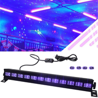 12 LED 36W LED Stage Light Effect DJ Disco UV Violet Wall Washer Spotlight Party Bar Floodlight AC 100 240V Laser Black Lights