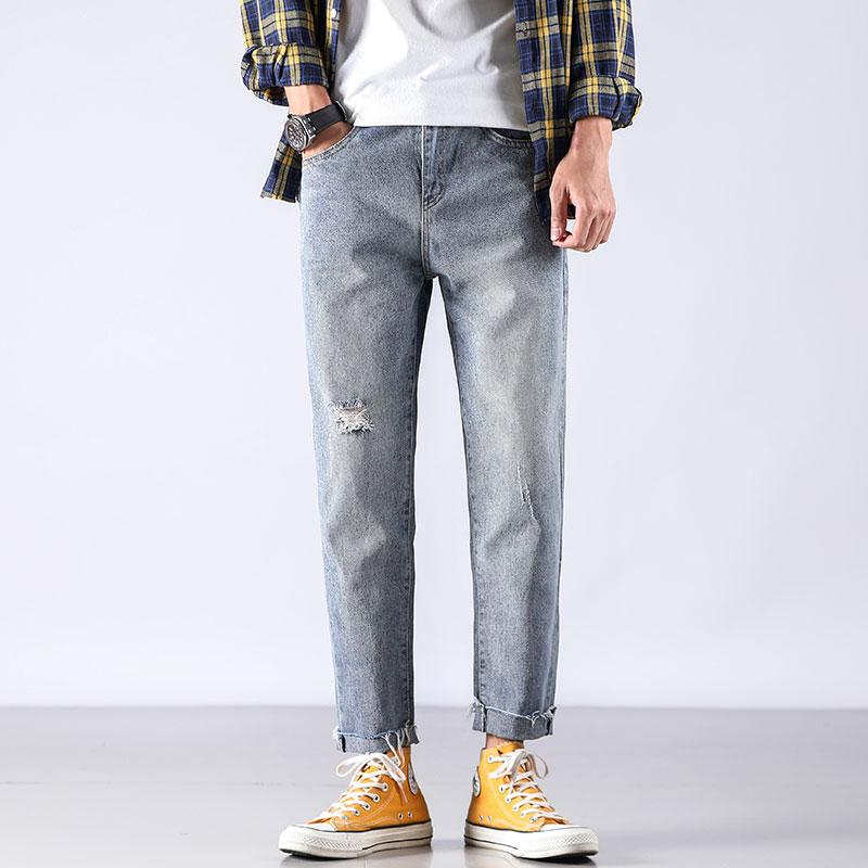 Cheap Wholesale 2019 New Autumn Winter Hot Selling Men's Fashion Casual  Denim Pants MP701
