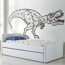 Dinosaur Wall Decals, Geometric Dinosaur Vinyl Sticker T-Rex Kids Room Wall Art,kids Boy Bedroom Wall Decoration  E14 bohemian geometric vinyl decorative wall sticker