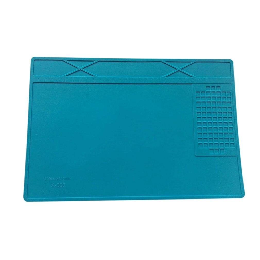Heat Resistant Soldering Station Silicone Welding Pad Heat Insulation Pad Repair Tools Maintenance Platform Desk Mat