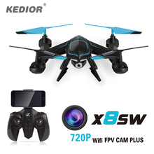 X8SW Quadcopter Drone with 720P Camera HD Rc Quadrocopter  Multicoptedr 2.4G Professional  Remote Helicopter цена
