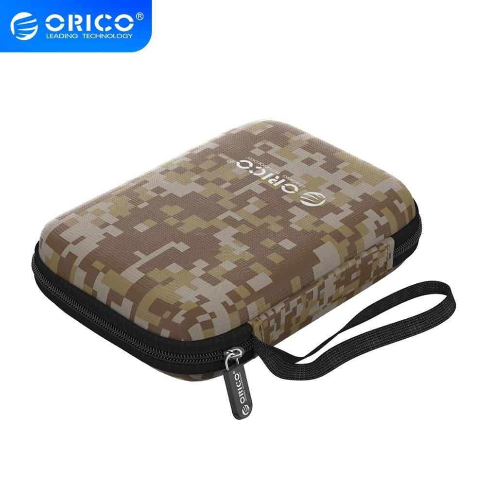 ORICO 2.5 אינץ תיק הגנה כוח בנק HDD SSD כונן נייד מגן מארז מקרה Camo אפור/כחול/שחור