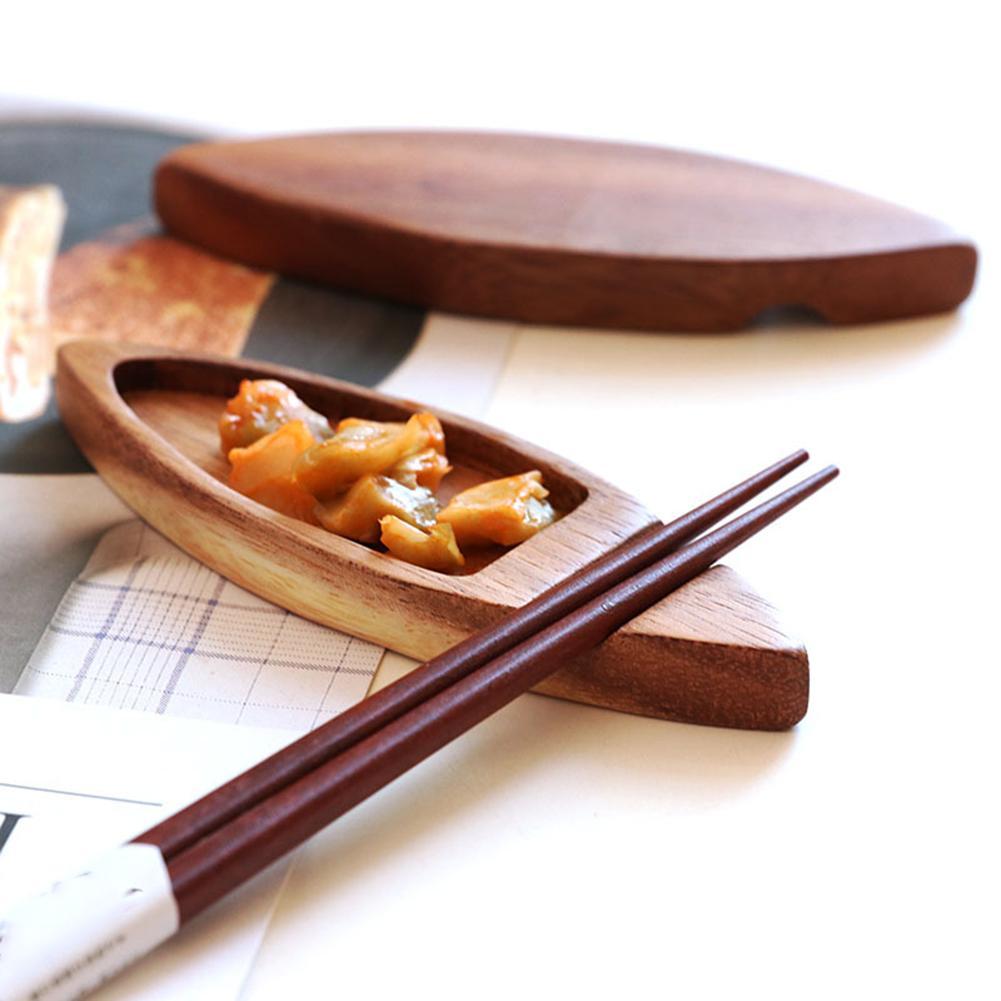 Japanese Wooden Sauce Dish Retro Dual Use Chopsticks Holder Small Wooden  Craft Dish Sauce Tray Plate|Gravy Boats| - AliExpress