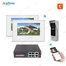 цена на TuyaSmart Free APP Villa  IP Video Intercom POE System 720P Wifi Wired Video Door Phone 7'' Touch Screen Security Access Control