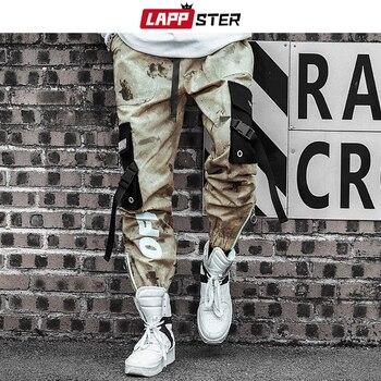 LAPPSTER Men Streetwear Ribbons Cargo Pants 2020 Mens Camouflage Joggers Hip Hop Korean Fashions Designer Camo Sweatpants INS 1