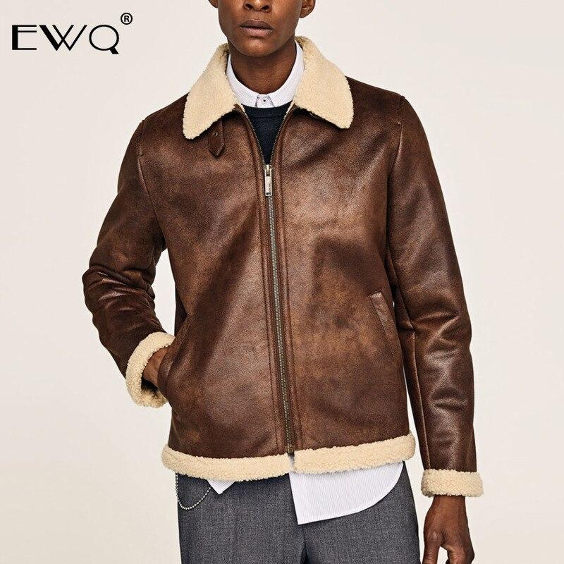 EWQ/2019 Новая модная осенне зимняя короткая бархатная куртка для мужчин свободного покроя с лацканами в японском стиле Chaqueta Hombre 9A164
