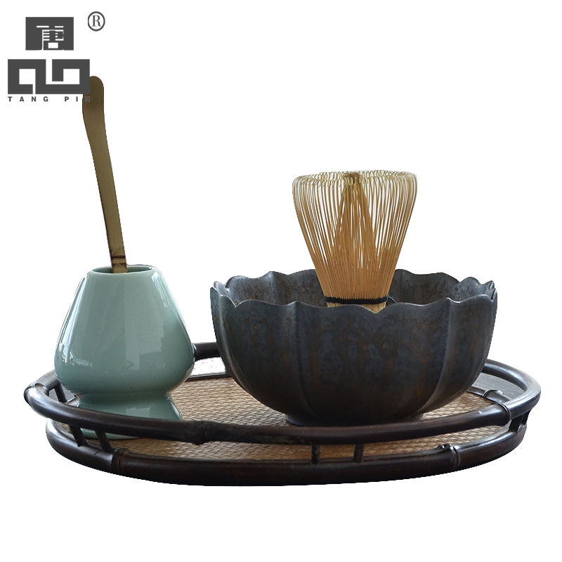 TANGPIN Traditional Matcha Sets Natural Bamboo Matcha Whisk Ceremic Matcha Bowl Whisk Holders Japanese  Tea Sets Drinkware