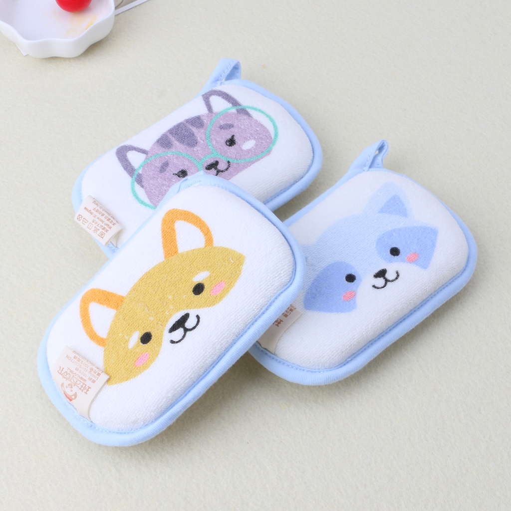 Newborn Baby Bath Brushes Infant Shower Sponge Cotton Rubbing Body Wash Towel