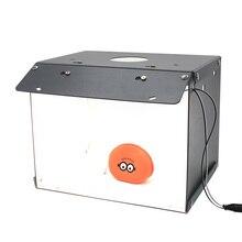 SANOTO 2 פנלים LED מיני צילום שולחן למעלה אור מתקפלת נייד צילום סטודיו Softbox shootting אוהל רקע ערכת