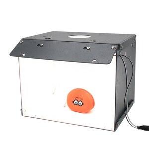 Image 1 - SANOTO Мини Настольный светодиодный светильник с 2 панелями, складной портативный софтбокс для фотостудии, шатер фон для съемки