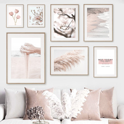 Reed Sand Tulip Magnolia Beach Quotes Nordic Posters And Prints Wall Art Canvas Painting Wall Pictures For Living Room Decor