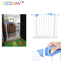 Puerta de seguridad para bebés TUSUNNY puerta de seguridad para niños valla para mascotas para bebés escaleras para puertas ancho 74-87cm