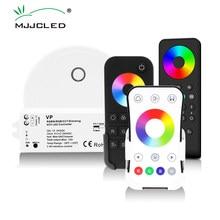 Rgb rgbw controlador rf 12v 24v 15a 4 em 1 rgb rgbw led luz de tira inteligente wifi controlador pwm 2.4g sem fio toque controle remoto