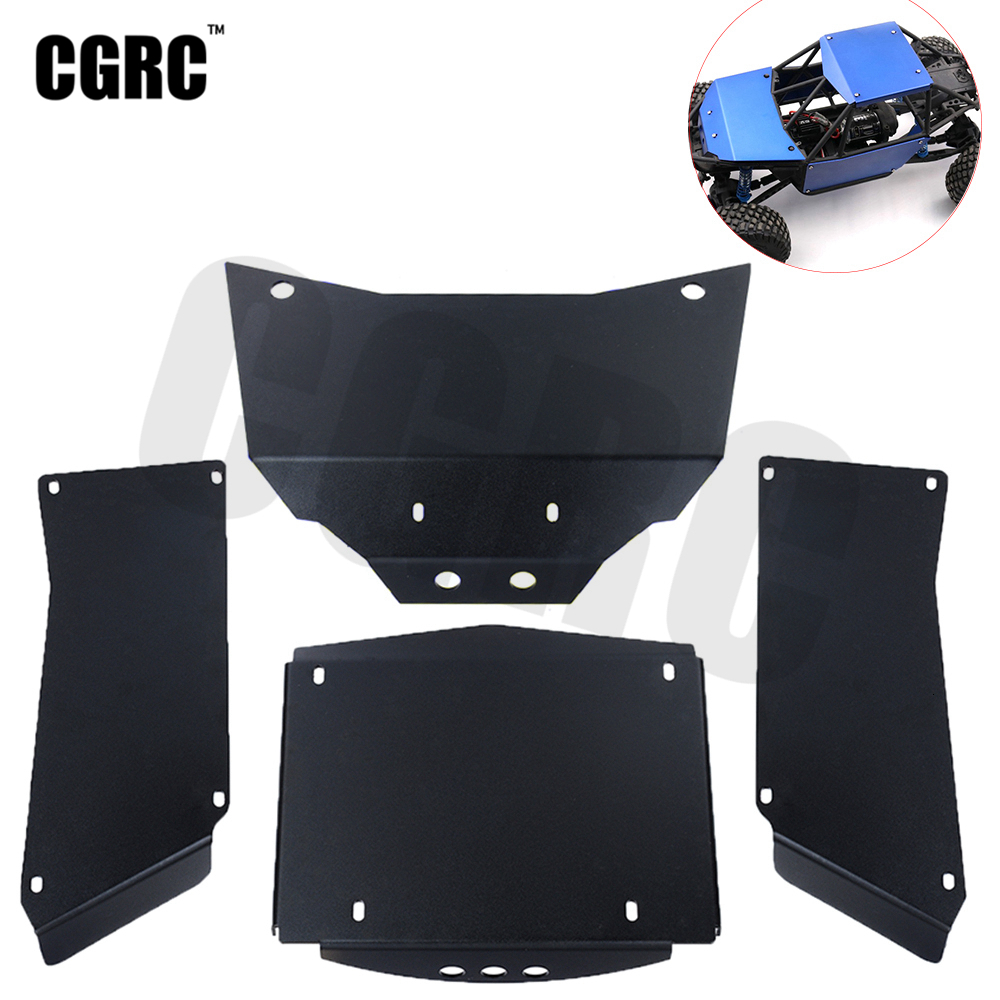 4pcs Metal Alloy Body Guard Protective Armor For 1/10 RC Crawler Car Axial Wraith RR10 90048