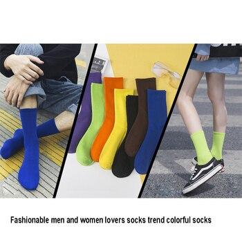 Calcetines Harajuku 2019 de algodón, calcetines de neón brillantes a la moda para hombres y mujeres, calcetines Unisex fluorescentes de Color caramelo, calcetines de regalo geniales para la calle Hip Hop