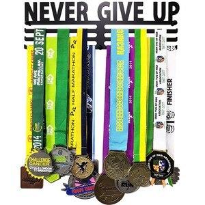 Image 5 - No Limits Never Give Up Marathon metal medal hanger