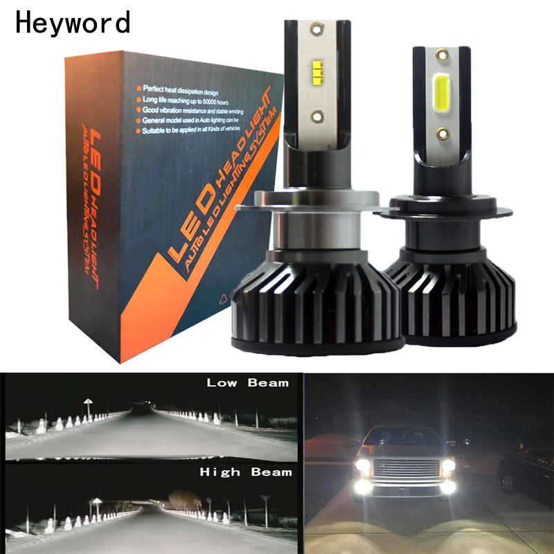 Car Headlight H4 160W 16000LM LED Bulb car 9006 9005 H7 H8 H3 6500K ZES Styling Auto Headlamp Fog Light Bulbs