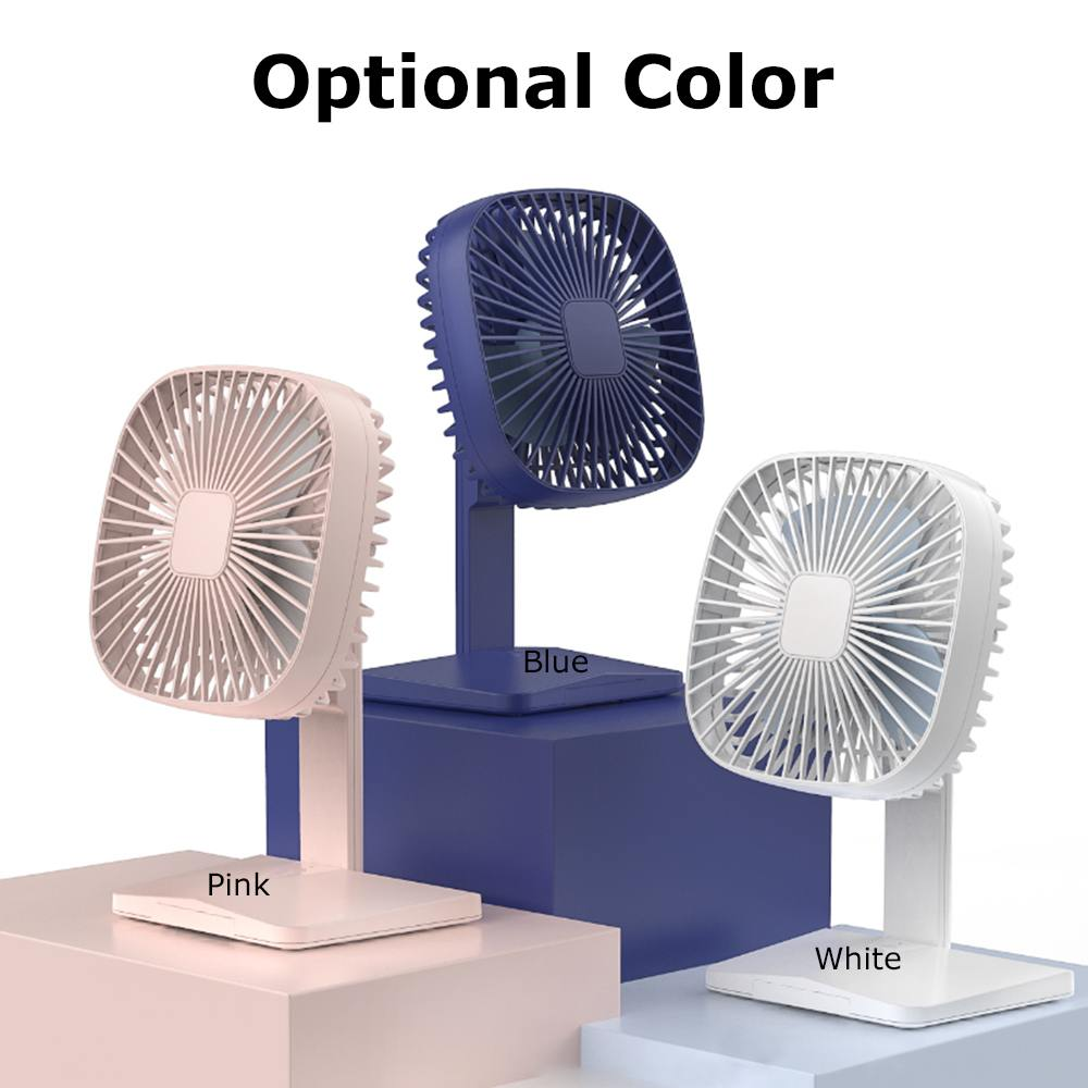 USB Desktop Fan With Phone Holder Stand Mini Noiseless Air Cooler  Personal Portable Cooling Fan Super Mute Laptop Cooler