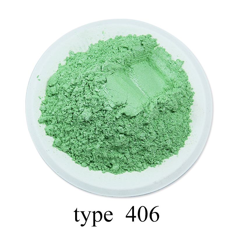Pearl Powder Coating Mineral Mica Dust DIY Dye Colorant 50g Type 406 For Soap Eye Shadow Cars Art Crafts Acrylic Paint Pigment